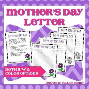 Mother's Day Letter - any subject or grade level