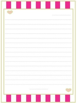 Mother's Day Letter Paper + Coupon Template