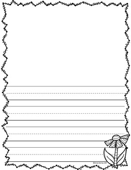 Mother's Day Lined Writing Pages FREE