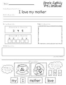 Mother's Day Literacy Packet