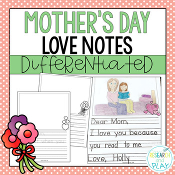 Mother's Day Love Notes Letter Writing