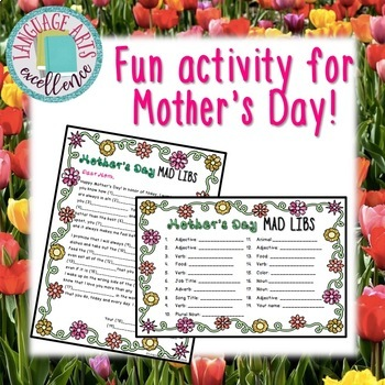 Mother's Day Mad Libs