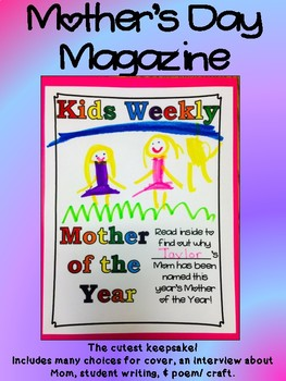 Mother's Day Magazine Mother of the Year Keepsake Writing