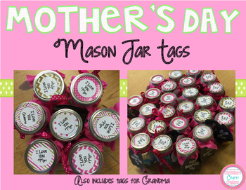 Mother's Day Mason Jar Tags