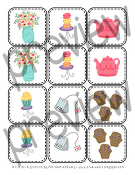 Tea Party Matching Game