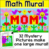 Mother's Day Math Mystery Pictures Mural - Fun Spring Bulletin Board Activity