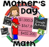 Mother's Day Math Project- Mother's Day Activity/ Gift for Mom GOOGLE CLASSROOM