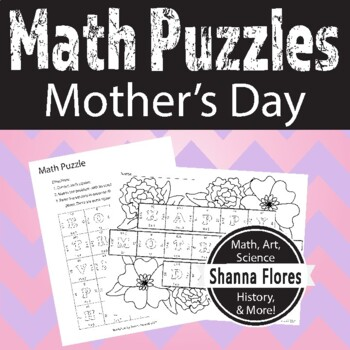 Mother's Day Math Puzzle - Multiplication - Fun Math
