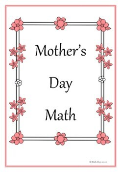 Mother's Day Math and Literacy Letters - Cards – Printable Activity