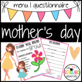 Mother's Day Questionnaire & Menu