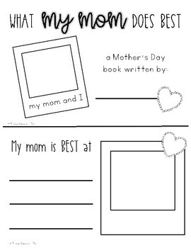 Mother's Day Mini Book | Father's Day Mini Book Activity