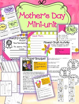 Mother's Day Mini-unit Projects!
