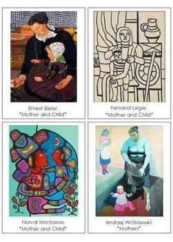 Mother and Child in Paintings Close-Up Matching Activity