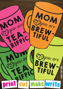 Mother's Day Mug Card for Mom / Mum {Coffee and Tea}