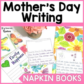 Mother's Day Napkin Book Writing Prompts