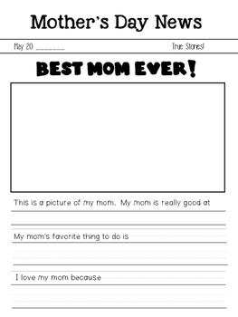 Mother's Day News FREEBIE!