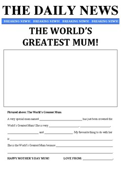 Mother's Day Newspaper