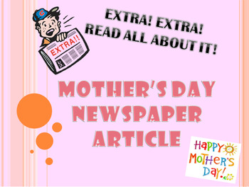 Mother's Day Newspaper Article