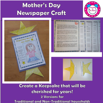 Mother's Day -  Craft Writing Activity