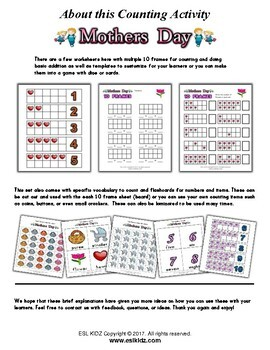Mother's Day Number / Counting Activities