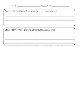 Mother's Day Opinion Writing Outline
