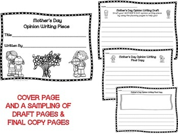 Mother's Day Opinion Writing Piece--Persuasive-Writing Pack--Common Core Aligned