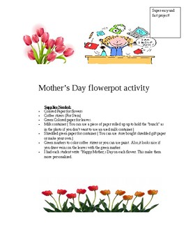 Mother's Day Paper Lily's Arrangement - Very Easy project!