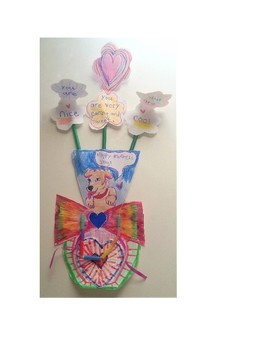 Mother's Day Peek-A-Boo I Love You Flower Vase Card