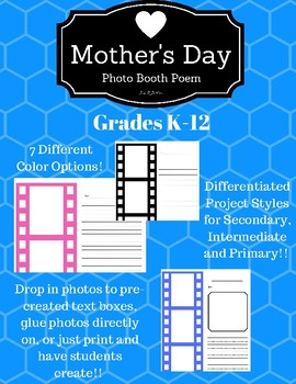 Mother's Day Photo Booth Writing Project