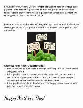 Mother's Day Planting Signs