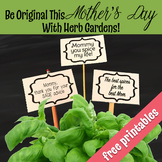 FREE Mother's Day Planting Signs