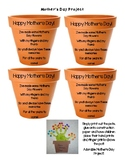 Mother's Day Poem Flower Pot Craft Project
