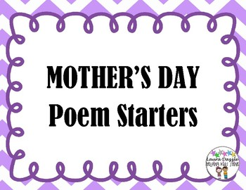 FREE Mother's Day Poem Starters