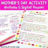 Mother's Day Poem for Middle School Students Includes DIGITAL VERSION!