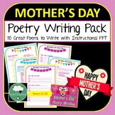 Mother's Day Poetry Writing Fun - 10 Poems to Write in Lower Secondary