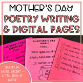 Mother's Day Poetry Writing Pages Print or Google Classroo