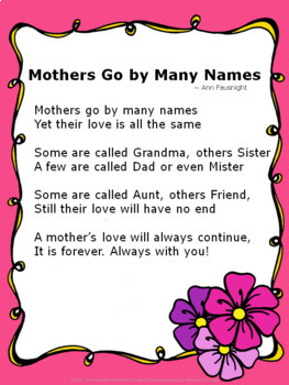 Mother's Day Poetry Sample