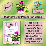 Mother's Day Poster For Moms #TpTDistanceLearning