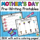 Mother's Day Pre-Writing Printables and Coloring Pages