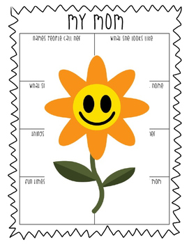 Mother's Day Prewrite Graphic Organizer