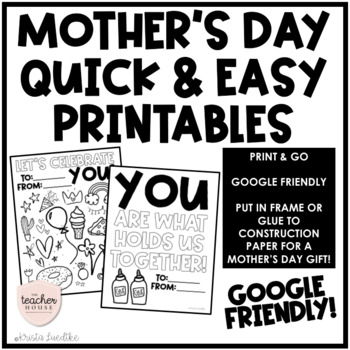 photo relating to Mom Printables named Moms Working day Printables