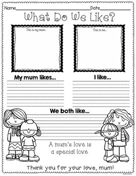 Mother's Day Printables (Canadian & Australian Version)