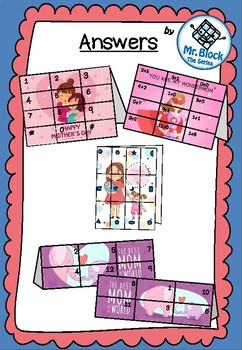 Mother's Day Activities -Mother's Day Puzzle Card (Cut, paste&get cards)Ages 3-7