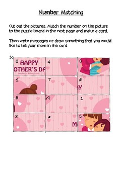 Freebie!!! Mother's Day Activities - Mother's Day cards - Mother's Day craft