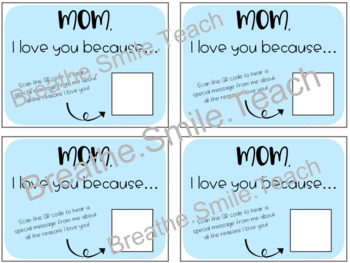 Mother's Day QR Code Cards