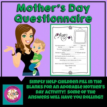 graphic regarding Mother's Day Questionnaire Printable titled Moms Working day Questionnaire