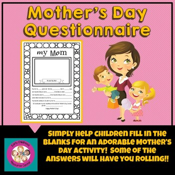 photograph relating to Free Printable Mother's Day Questionnaire named Moms Working day Questionnaire Worksheets Instructors Spend Instructors