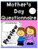 Mother's Day Questionnaire + BONUS 3 mother's Day coloring pages