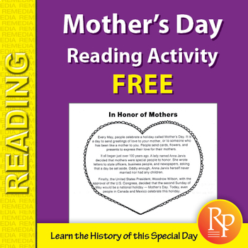 Mother's Day Reading Comprehension Activity {Freebie}