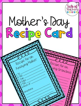 Mother's Day Recipe Cards